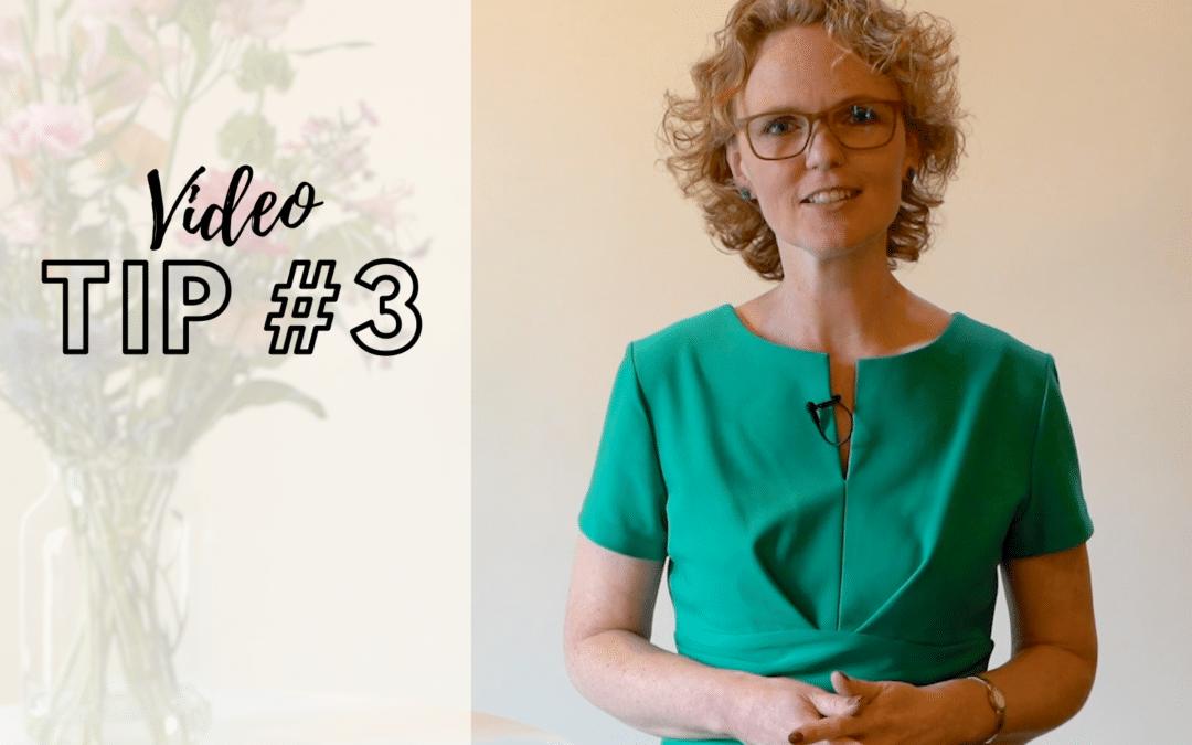 [Video] Tip #3 Hoe komt ie dan wel in actie?